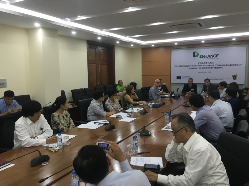 ENHANCE PROJECT – 1ST ROUND TABLE, PROJECT COORDINATION MEETING, AND TRAINING WORKSHOP IN HANOI
